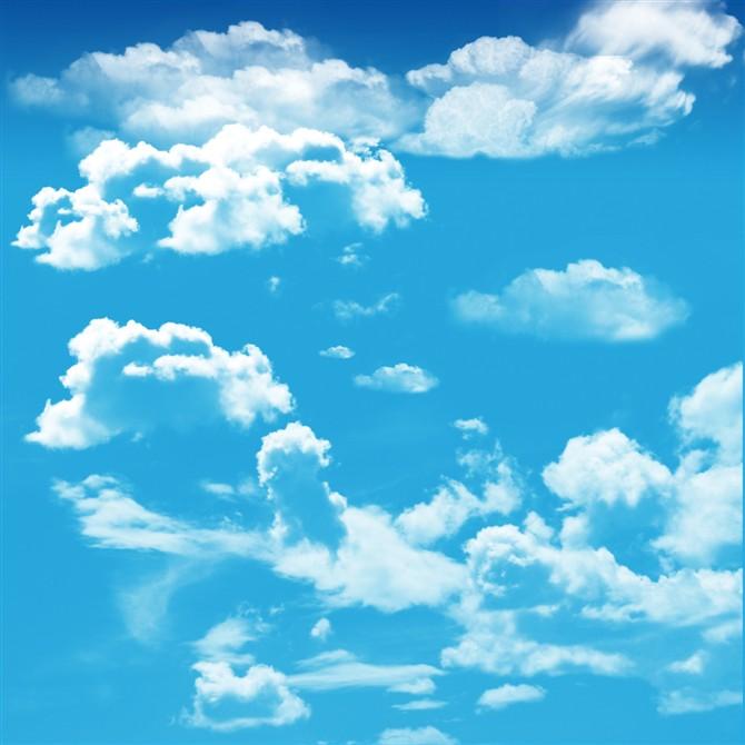蓝天白云软膜天花吊顶